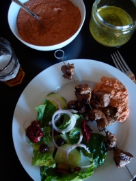 Cumin Kebabs with Muhammara {gluten-free, dairy-free}