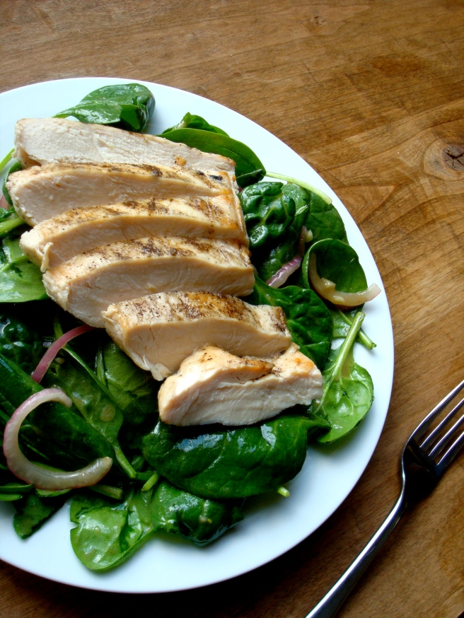 Grilled Chicken Salad with Honey Mustard Vinaigrette {gluten-free, dairy-free}