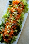 Carrot, Kale, and Nori Salad with Sesame Dressing {gluten-free, vegan}