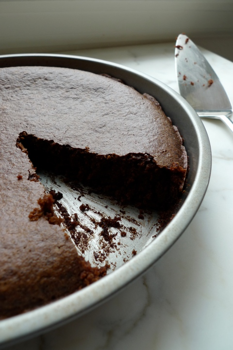 Old-Fashioned Chocolate Cake with Quinoa Flour (gluten-free, vegan)