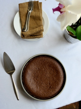 Old-Fashioned Chocolate Cake with Quinoa Flour {gluten-free, vegan}