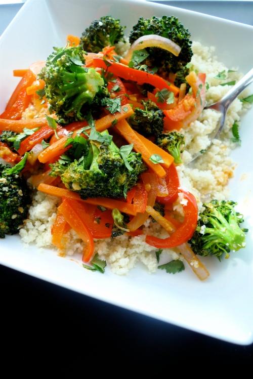 "Thai Jungle Curry + Cauliflower ""Rice"" {gluten-free, vegan}"